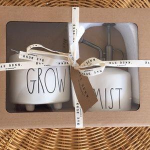 """Rae Dunn""""Mist & Grow""""ceramic pot & mister"""